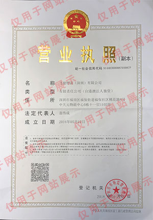 Fairtrade (Shenzhen) - Business License